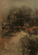 Olej, karton; 13 x 19 cm