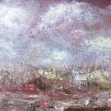 Olej, karton; 30 x 20 cm