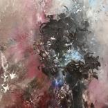 Olej, karton; 16 x 45 cm