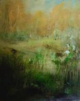 Olej, karton, 24 x 30 cm
